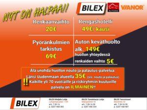 Bilex tarjoukset